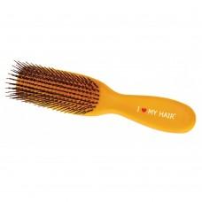 Щетка I LOVE MY HAIR желтая глянцевая